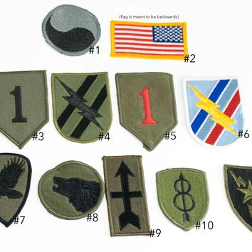 Single Patch Camo BDU Military Army Individual Patches