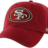 san francisco 49ers dad hat red