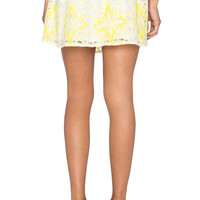Frenchie Skirt in White & Canary