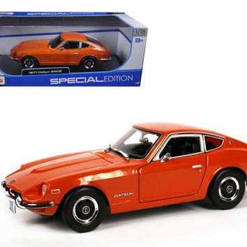 1971 Datsun 240Z Orange 1-18 Diecast Model Car by Maisto