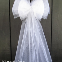 Small White or Ivory Tulle Bow