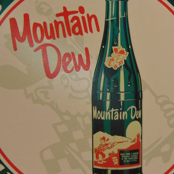 Mountain Dew Tin Sign Advertising Reproduction Kitchen Country Vintage Decor#551