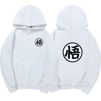 Dragon Ball Z White Hoodie