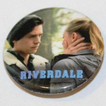 "Licensed cool CW RIVERDALE High Jughead Betty Bughead 1 1/4"" Button Pin Back Pinback Licensed"