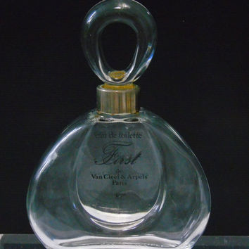 Empty Collectible Bottle Van Cleef & Arpels First Eau De Toilette 4 Fl Oz 120 Ml