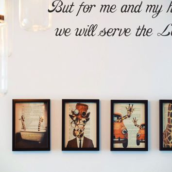 But for me and my house we will serve the Lord. Style 29 Vinyl Decal Sticker Removable