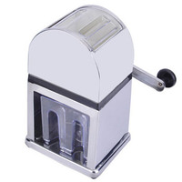 Manual Ice Crusher Shaver Maker Machine  Zinc Alloy Shell Chrome Plated