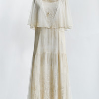 vintage 1920s ivory embroidered tulle dress [Tendrils of Ivory Dress] - $328.00 : Vintage & Vintage Inspired Clothing, Adored Vintage, Portland Oregon