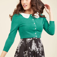 Elegant Accents Cardigan in Teal | Mod Retro Vintage Sweaters | ModCloth.com