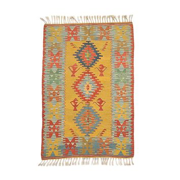 "Turkish Kilim Turkish 3' 8"" X 5' 4"" Handmade Rug"