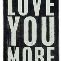 Love You More - Mailable Wooden Greeting Card for Birthdays, Anniversaries, Weddings, and Special Occasions
