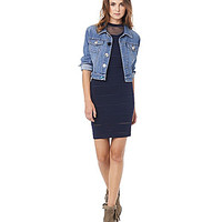 Sam Edelman Shrunken Denim Jacket - Blue
