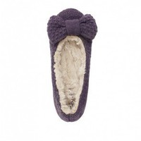 Ruby bow knitted slippers - Plümo Ltd
