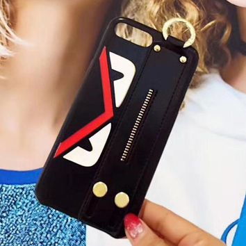 Fendi Hand Strap Holder iPhone Phone Cover Case For iphone 6 6s 6plus 6s-plus 7 7plus 8 8plus-1