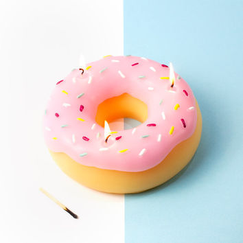 Giant Donut Candle | FIREBOX