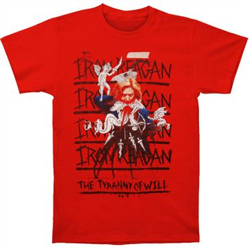 Iron Reagan Men's  The Tyranny Of Will T-shirt Red