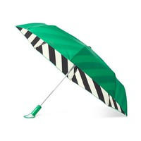 Travel Umbrella in Green and Black Stripe by Kate Spade New York