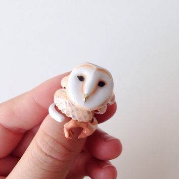 Reserved for kostromich - daintyme Enamel Owl Ring Set . Animal ring set