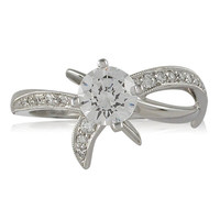 Vivadore Contemporary Diamond Engagement Ring With Milgrain Detailing