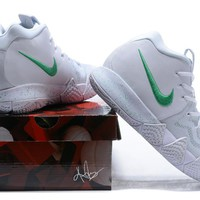 2018 The New  Nike Kyrie Irving 4  White /Green  Basketball Sneaker