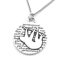 Sloth Necklace (Perseverance)-D108