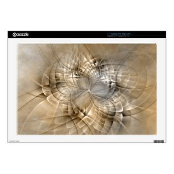 Earth Tones Abstract Modern Fractal Art Texture Decal For Laptop