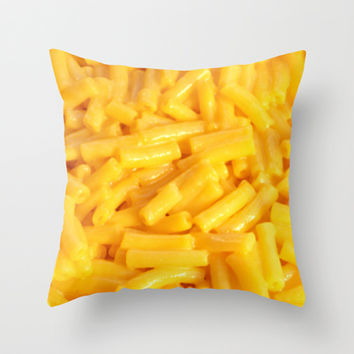 Mac n' Cheese Throw Pillow by Jamie Danielle