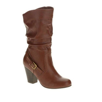 Faded Glory Women's Slouch High Heel Boots, 10, Brown