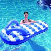 Polygroup Marine Flip Flop Inflatable Pool Float, Blue, 71""