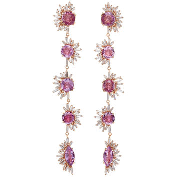 One-Of-A-Kind Pink Sapphire Drop Earrings | Moda Operandi