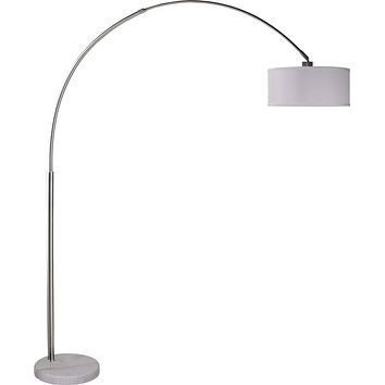 Marble Base Adjustable Arc Floor Lamp White