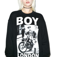 BOY London Cafe Rider Standard Sweatshirt Black