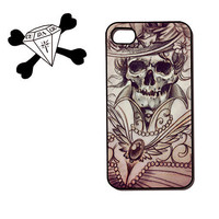 iPhone 4 4s iphone 5, s3, ipod touch Case Day of the Dead Victorian Goth Lolita Skeleton (90048)