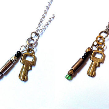 Doctor Who: sonic screwdriver and TARDIS key charm necklace