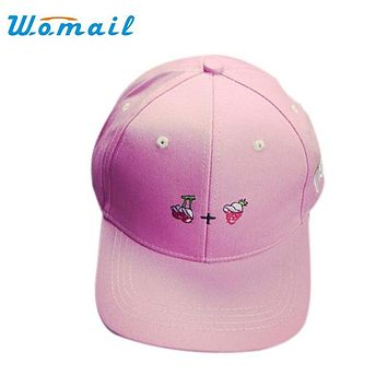 Womail Baseball Cap fashion 2017 summer printed Cotton women Snapback Caps Hip Hop Hats 1pcs