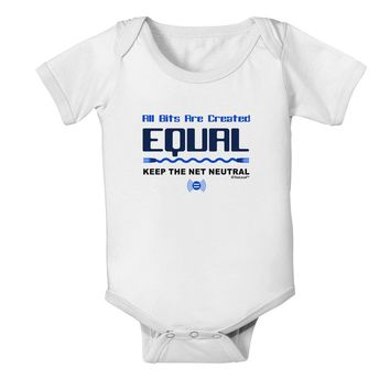 All Bits Are Created Equal - Net Neutrality Baby Romper Bodysuit