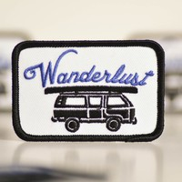Wanderlust Embroidered Patch.