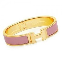 Hermes tide brand fashion exquisite bracelets F Pink