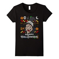 Smiling Witch Ugly Halloween T-shirt - Happy Halloween