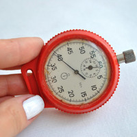 Mechanical Stopwatch Soviet Vintage Watch original USSR Workable 70s Vintage Soviet stopwatch