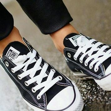 Women With Men White Converse Fashion Canvas Flats Sneakers Sport Shoes-1