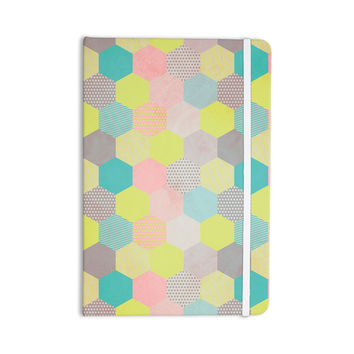 "Louise Machado ""Pastel Hexagon"" Geometric Everything Notebook"