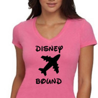 Disney Bound / Love Disney /  Womens T-Shirt V Neck / Multi Color Choices / Disney Vacation / Disney Trip
