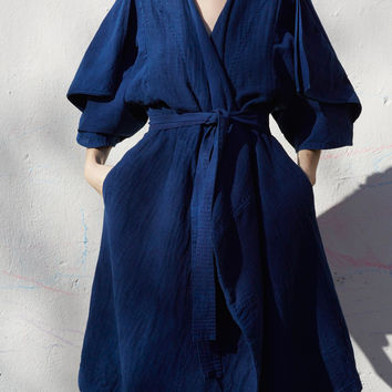 Cosmic Wonder Sashiko Sleeve Dress