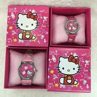 20Pcs Hello kitty kids boys girls children cartoon quartz  Children Wristwatch Watches With Boxes Party Favors Gift Toy