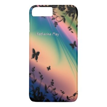 Pink Dawn Butterfly Garden iPhone 7 Plus Case