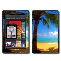 Kindle Fire Vinyl Decal Wrap Skin  Tropical Beach by ItsASkin