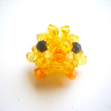 Yellow Canary Bird Figurine  Swarovski Crystals