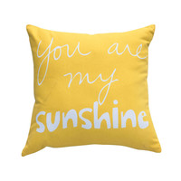 Modern America Style Throw Pillow Decorative Throw Pillows Yellow Cushion Cover For Sofa Fundas Para Cojines Free Shipping