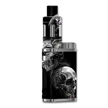 ONETOW Skin Decal Vinyl Wrap For ELeaf IStick Pico 75w TC Vape Mod / Glowing Skulls In Smoke